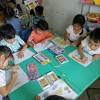 Trẻ chơi hoạt động góc chủ đề trường tiểu học. Lớp lớn 1